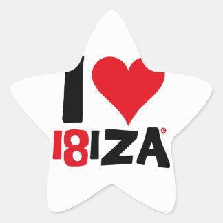 I love Ibiza 18IZA Special Edition 2018 Star Sticker