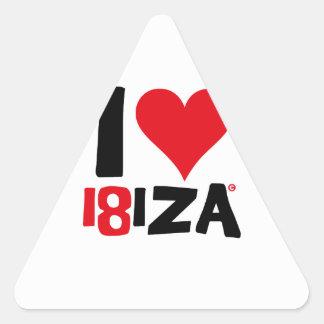 I love Ibiza 18IZA Special Edition 2018 Triangle Sticker