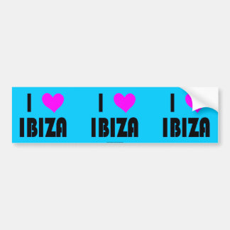 I Love Ibiza bumper sticker