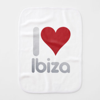 I LOVE IBIZA BURP CLOTH