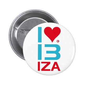 I LOVE IBIZA PINBACK BUTTON
