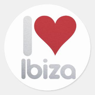 I LOVE IBIZA CLASSIC ROUND STICKER