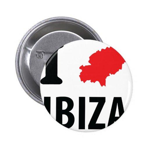 I love Ibiza contour icon Button