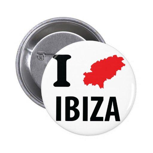 I love Ibiza contour icon Pin