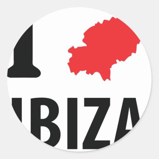 I love Ibiza contour icon Stickers