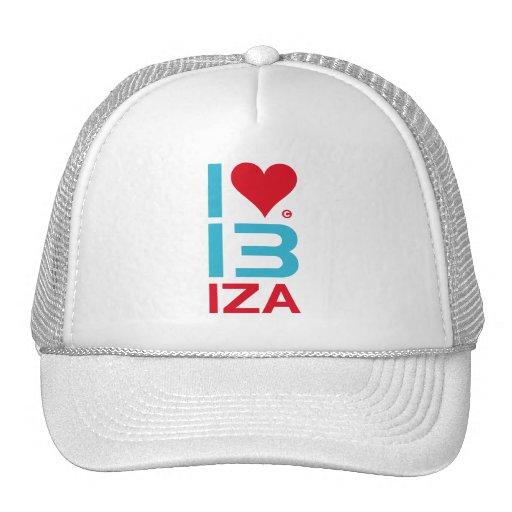 I LOVE IBIZA MESH HATS