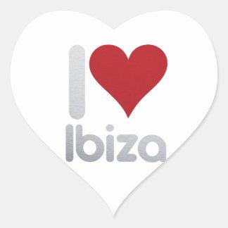 I LOVE IBIZA HEART STICKER
