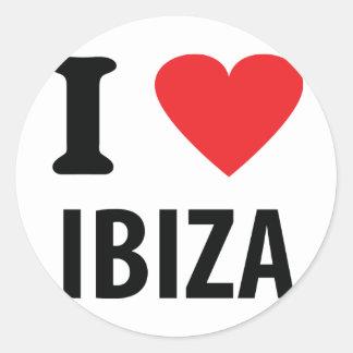 I love Ibiza icon Round Sticker