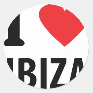 I love Ibiza icon Round Stickers