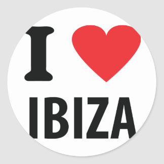 I love Ibiza icon Round Sticker