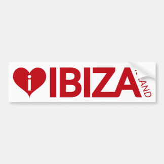 i Love Ibiza Island bumper sticker