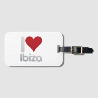 I LOVE IBIZA LUGGAGE TAG