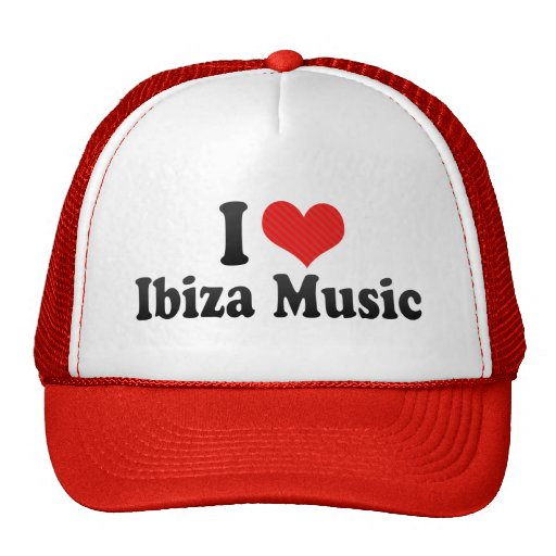 I Love Ibiza Music Mesh Hat