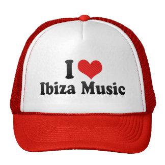 I Love Ibiza Music Trucker Hat