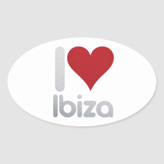I LOVE IBIZA OVAL STICKER