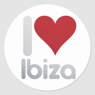 I LOVE IBIZA ROUND STICKER