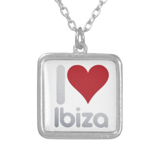 I LOVE IBIZA SILVER PLATED NECKLACE
