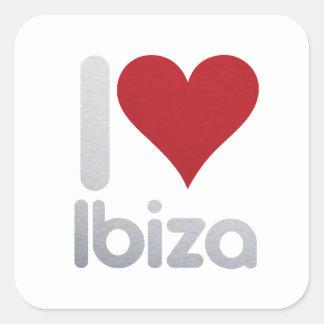 I LOVE IBIZA SQUARE STICKER