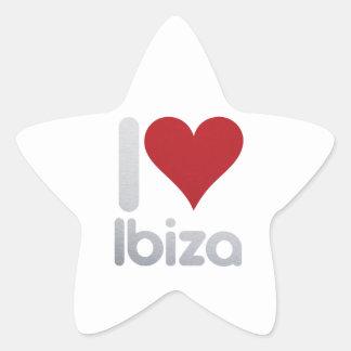 I LOVE IBIZA STAR STICKER