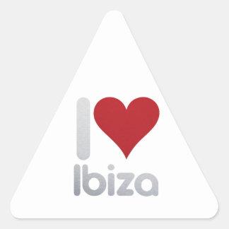 I LOVE IBIZA TRIANGLE STICKER