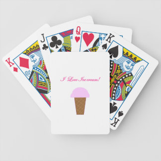 I Love Ice Cream! Bicycle Playing Cards
