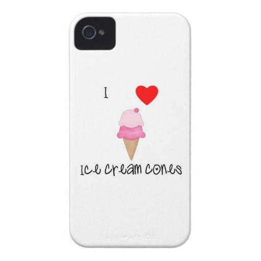 I love ice cream cones iPhone 4 cases