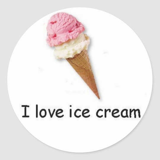 I love ice cream Double Dip Cone Sticker
