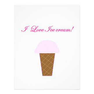 I Love Ice Cream! Letterhead