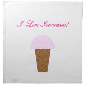 I Love Ice Cream! Napkin