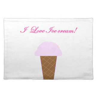 I Love Ice Cream! Placemat
