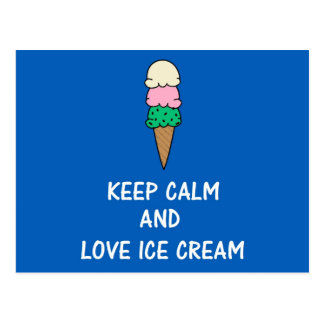 I love ice cream. postcard