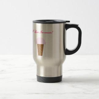 I Love Ice Cream! Travel Mug