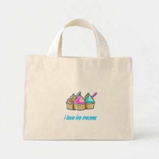 i love ice creams mini tote bag