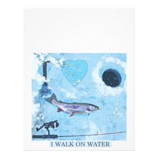 I love ice fishing letterhead
