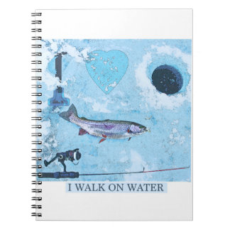I love ice fishing notebook