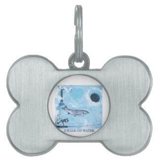 I love ice fishing pet name tag