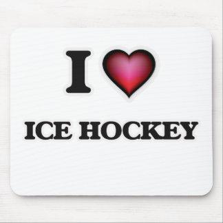 I Love Ice Hockey Mouse Pad