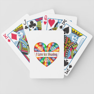 I Love Ice Skating Bicycle Playing Cards