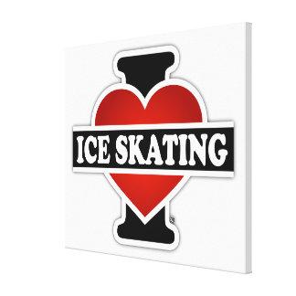 I Love Ice Skating Canvas Print
