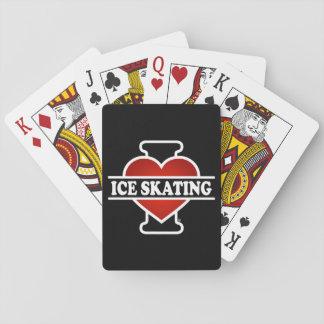 I Love Ice Skating Poker Deck