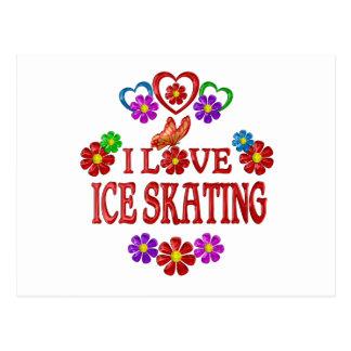 I Love Ice Skating Postcard