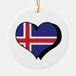 I Love Iceland Ornament