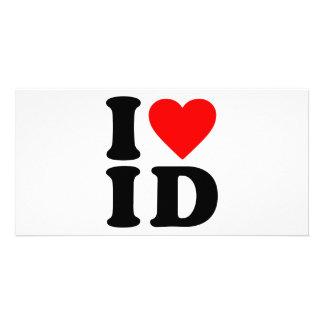 I LOVE ID CUSTOMIZED PHOTO CARD