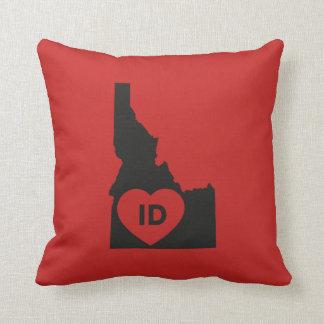 "I Love Idaho State Throw Pillow 16"" x 16"""