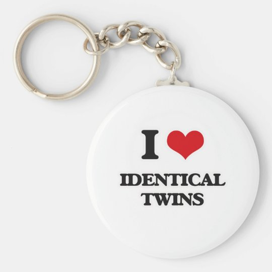 I Love Identical Twins Keychain