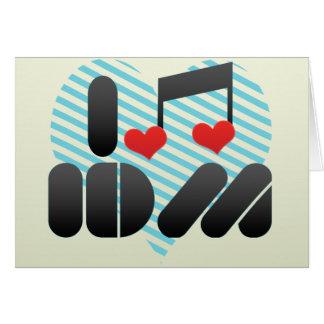 I Love Idm Greeting Card