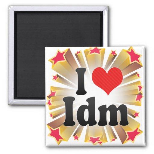 I Love Idm Refrigerator Magnets