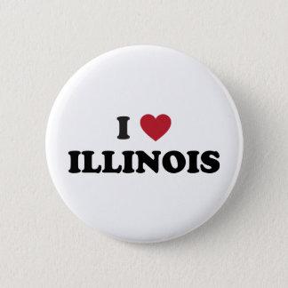 I Love Illinois 2 Inch Round Button