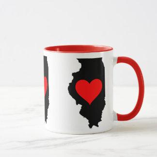 I Love Illinois, I heart Illinois Mug