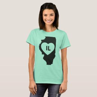 I Love Illinois State Women's Basic T-Shirt